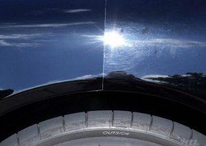 результат полировки автомобиля до и после